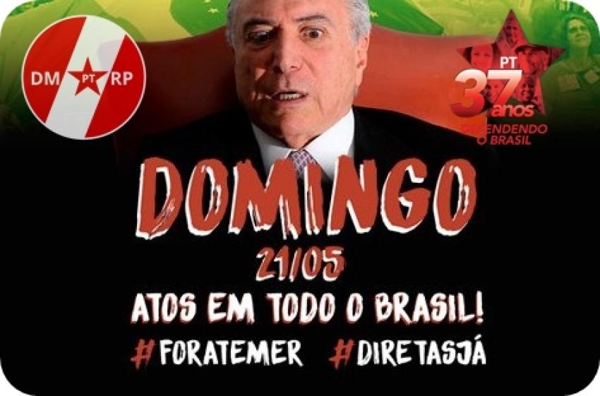 Reunião Extraordinária - Ato #ForaTemer em Ribeirão Preto 21/05/2017