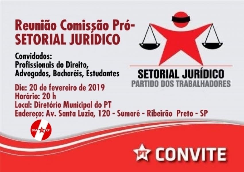 Reunião Comissão Pró-Setorial Jurídico do PT de Ribeirão Preto – 20-02-2019