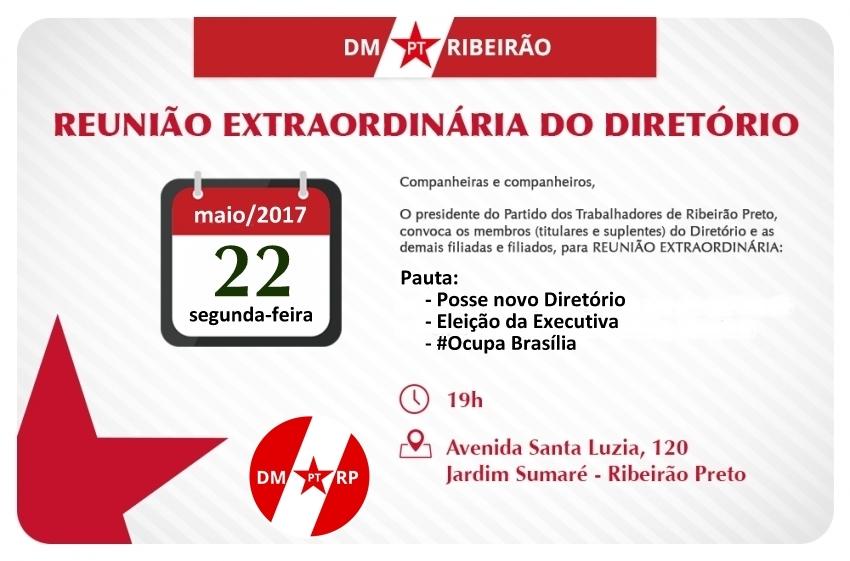 Reunião Extraordinária | Posse novo Diretório - Eleição Executiva - #OcupaBrasília