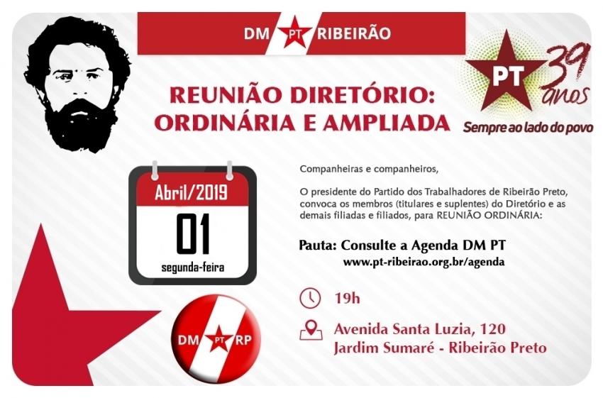 Reunião do Diretório Municipal de Ribeirão Preto - 01-04-2019