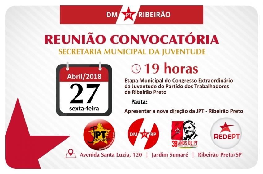 Etapa Municipal do Congresso Extraordinário da JPT - Ribeirão Preto