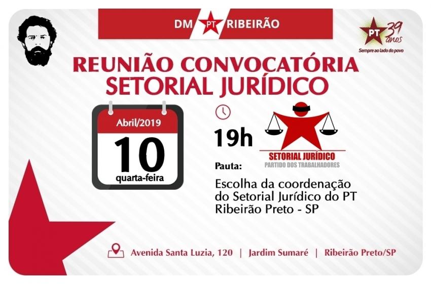 Reunião da coordenação do Setorial Jurídico
