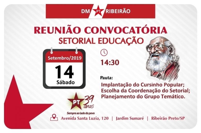 Reunião do Setorial Educação | 14 - setembro - 2019