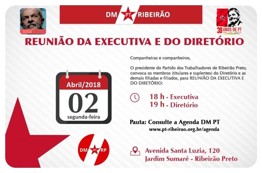Reunião Executiva e Diretório Ampliada | 02-04-2018