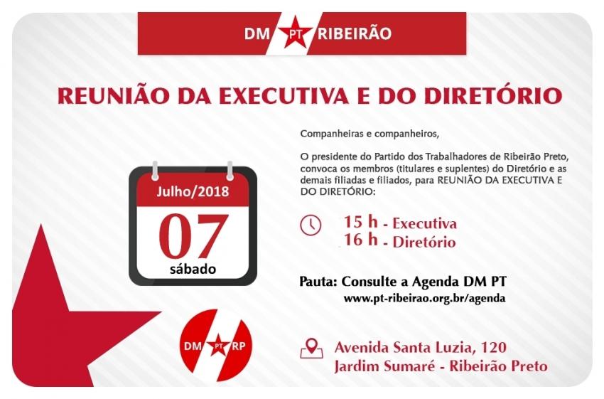 Reunião Executiva e Diretório   Dia 07-07-2018