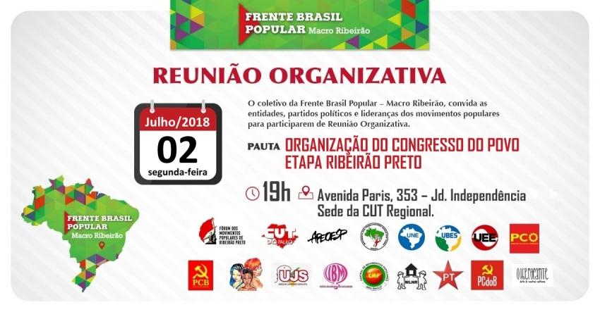 Reunião Organizativa: Congresso do Povo | Etapa Ribeirão Preto