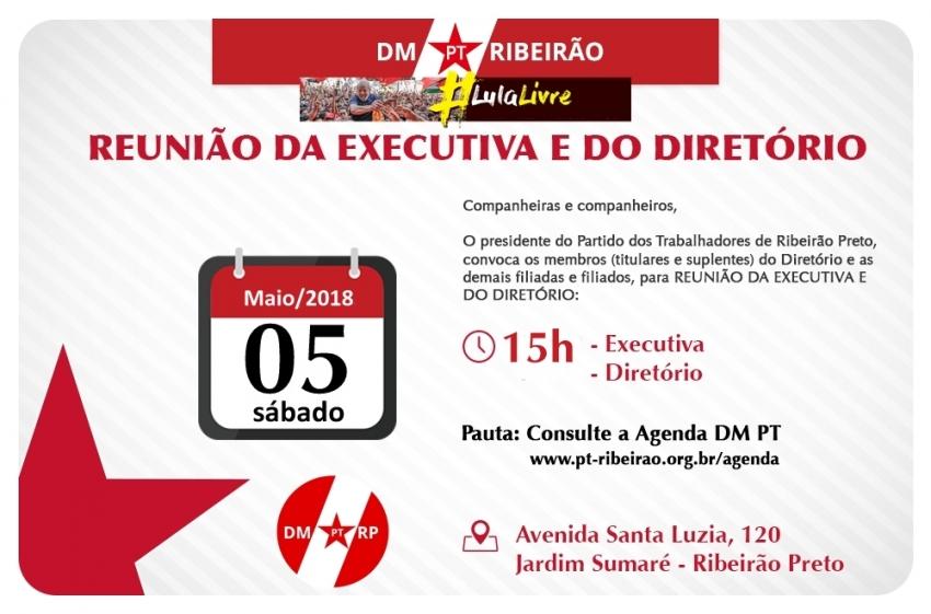 Reunião Executiva e Diretório Ampliada | 05-05-2018