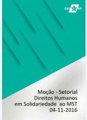 Moção do Setorial Direitos Humanos: Solidariedade ao MST