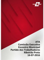 Ata Comissão Executiva - Encontro Municipal - Homologação Tática Eleitoral