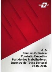 Ata Reunião Comissão Executiva DMPT 02-07-2016 - Abertura Encontro de Tática