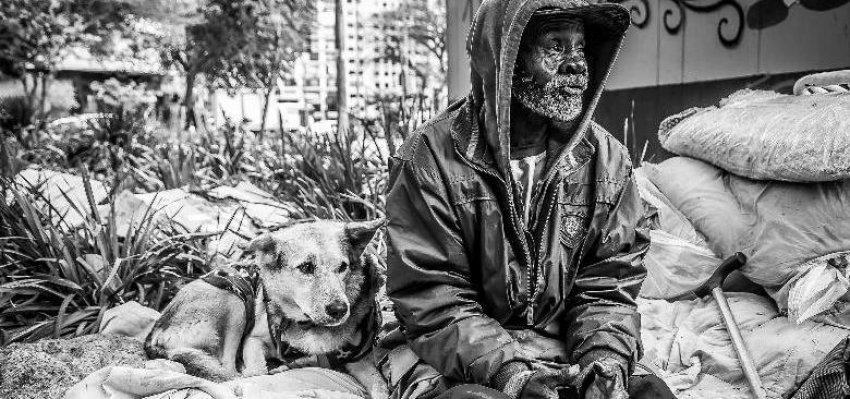 Fotógrafo conta histórias de amizade entre moradores de rua e seus cães