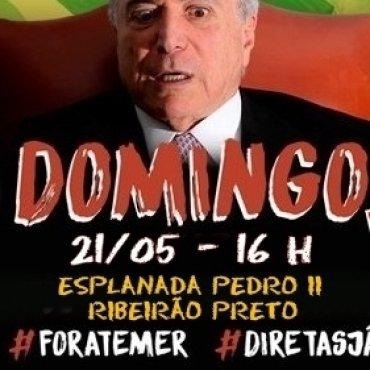 Movimentos farão atos no domingo, dia 21, para exigir a saída de Temer e Diretas-Já!