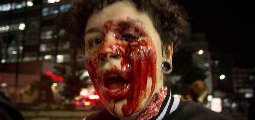 Dor e emoção dão tom ao relato da estudante que perdeu o olho, no lançamento da Frente de Combate à violência policial