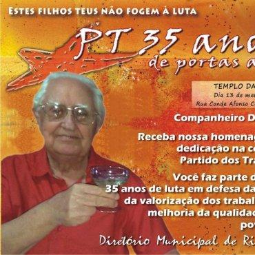 Dr. David Aidar - PT - 35 anos de luta - II Sarau