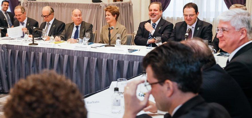 Dilma participa de encontro com empresários brasileiros em NY