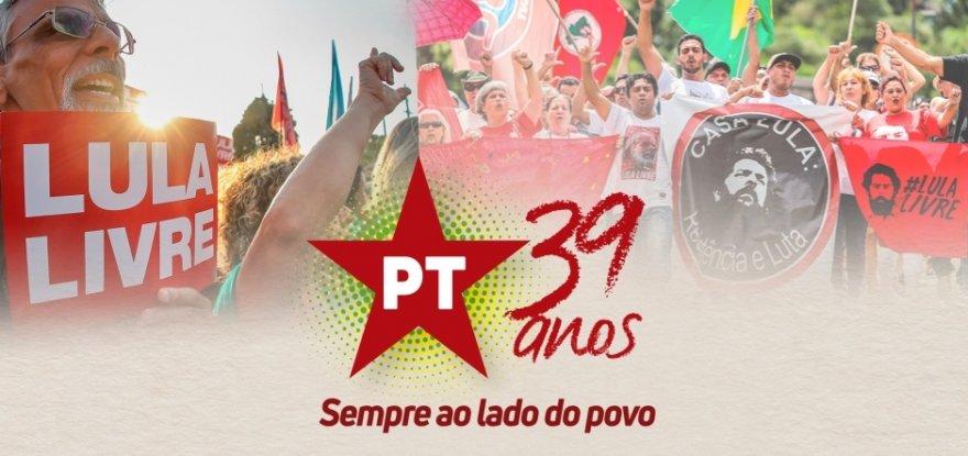 PT de Ribeirão Preto comemora 39 anos de fundação do PT