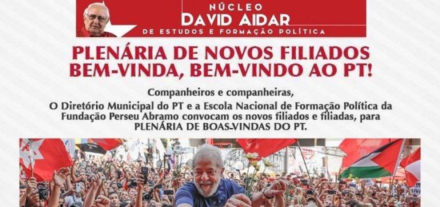 Núcleo David Aidar do PT faz plenária de boas-vindas a novos filiados e filiadas de Ribeirão Preto