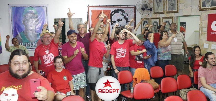 Roque agradece apoio da militância e reafirma compromisso na luta pela construção do PT