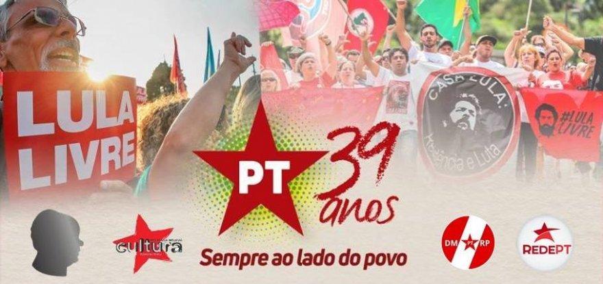 Ao vivo: PT 39 anos: sempre ao lado do povo