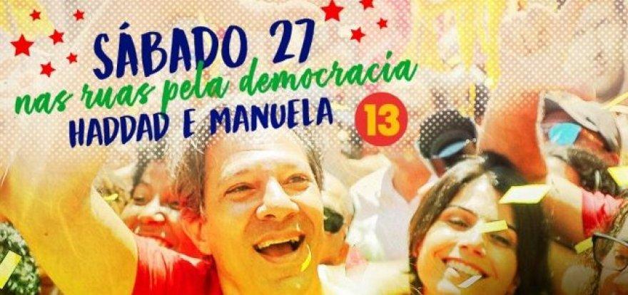Frente Democrática de Ribeirão convoca #VIRADAHADDAD13