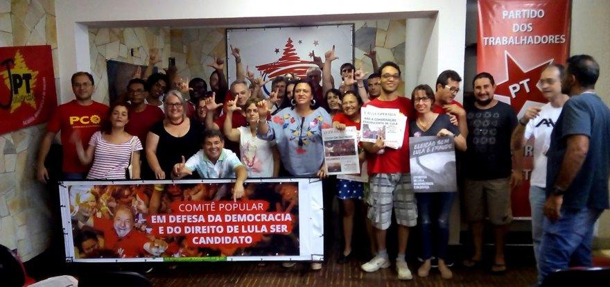 PT de Ribeirão Preto inaugura Comitê em defesa de Lula e da Democracia