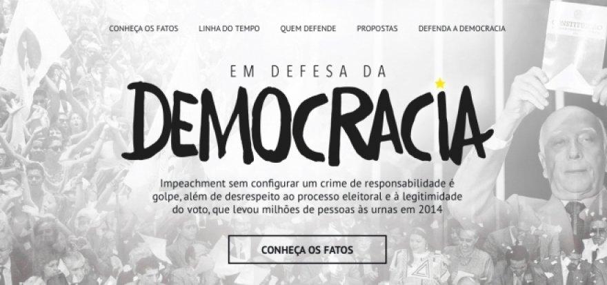 Governo Dilma lança site em defesa da democracia