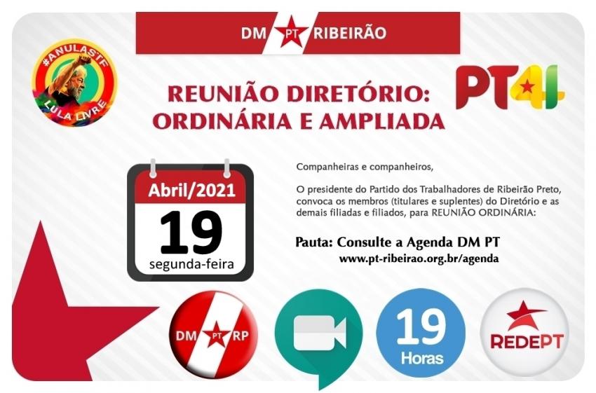 REUNIÃO ORDINÁRIA DO DIRETÓRIO MUNICIPAL
