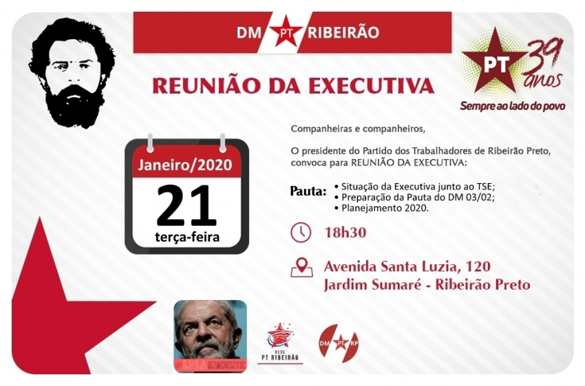 Reunião Extraordinária Executiva Municipal - 21-01-2020