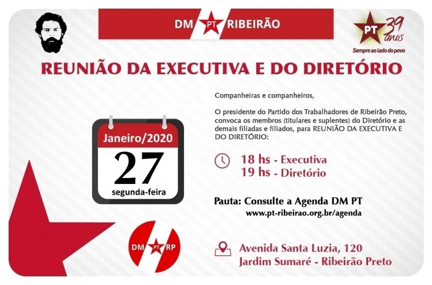 Reunião Extraordinária: Executiva Municipal - Diretório - GTE - 27-01-2020