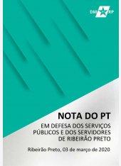 NOTA DO PT EM DEFESA DOS SERVIÇOS PÚBLICOS E DOS SERVIDORES DE RIBEIRÃO PRETO