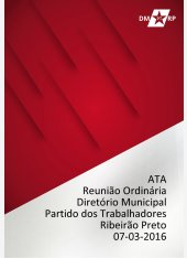 Ata Reunião Ordinária DMPT 07-03-2016