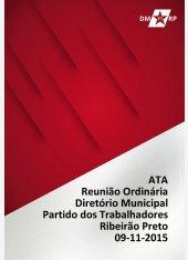 Ata Reunião Ordinária DMPT 09112015