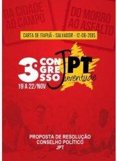 Carta de Itapuã - Proposta de resolução ao Conselho Político da JPT