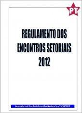 Regulamento dos Encontros Setoriais - 2012
