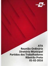 Ata Reunião Ordinária DMPT 01-02-2016