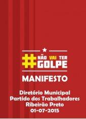 Manifesto Contra o Golpismo - 01-07-2015