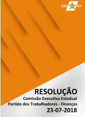 Resolução da Comissão Executiva Estadual - Finanças - Eleições 2018