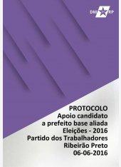 Protocolo 06-06-2016 - Apoio candidato prefeito base aliada - Encontro de Táticia