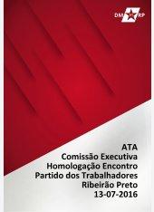 Ata Comissão Executiva - Homologação Encontro de Tática - 13-07-2016