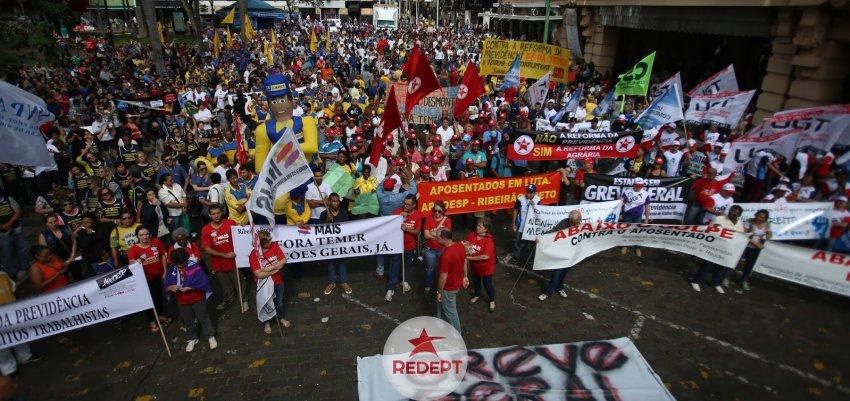 Frente Brasil Popular: paralisação é a maior da história
