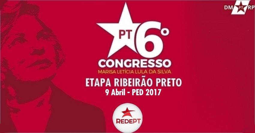 PT divulga teses protocoladas para o PED 2017