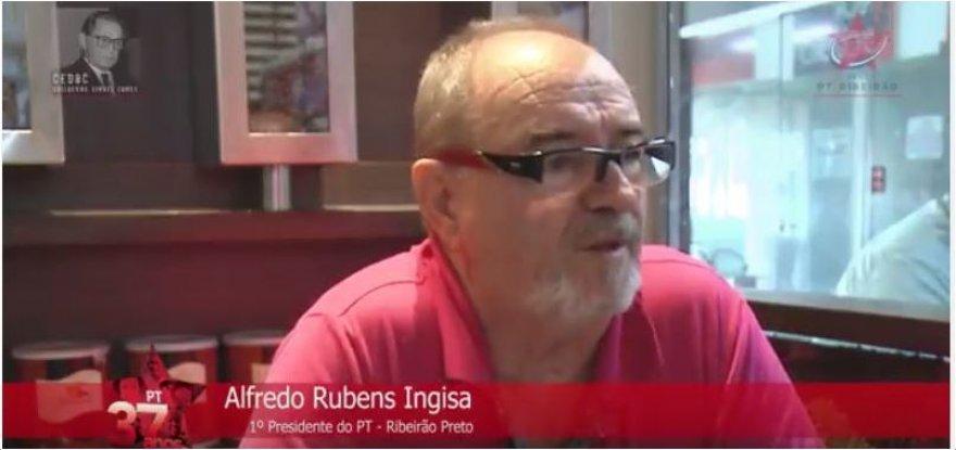 Alfredo Rubens Ingisa, primeiro presidente participa da História Oral do PT de Ribeirão Preto