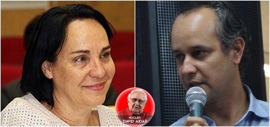 Márcia Lia e Jorge Roque na abertura do Curso de Difusão da Perseu Abramo