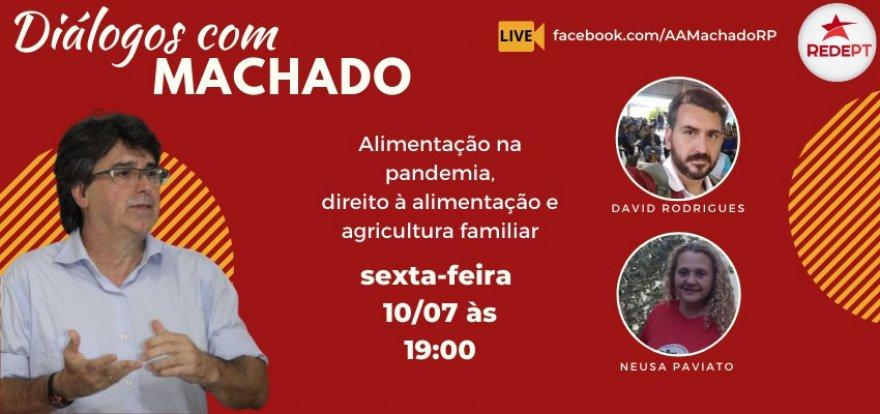 Neusa Paviato e David Rodrigues no Diálogos com Machado desta sexta-feira